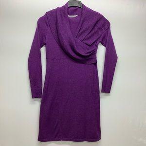 Athleta Size L Sochi Sweater Dress Heather Wool